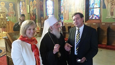 Codruta and Dean with the Patriarch