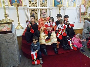 Fr.Constantine with the children